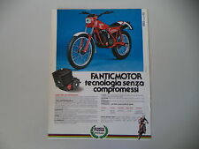 advertising Pubblicità 1982 MOTO FANTIC TRIAL 240 PROFESSIONAL