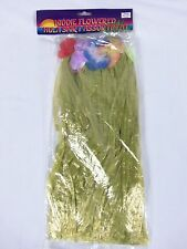 Kiddie Flowered Hula Yellow Skirt Assortment Luau Tropical Party Flowered Leis