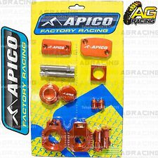 Apico Bling Pack Orange Blocks Caps Plug Nuts Clamp Covers For KTM SX/F 450 2012