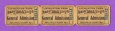 RARE & HISTORIC!  ~3~ FULL TICKETS for a 1920s-30s *NEGRO LEAGUE* Baseball Game!