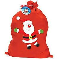 1 xFather Christmas Xmas Present Gift Kids Family Santa Sack Stocking Filler Bag