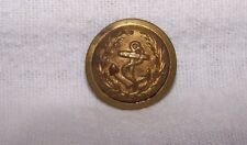 VINTAGE DOMED GOLD METAL/BRASS USA NAVY MILITARY UNIFORM BUTTON-ANCHOR-SEW THRU