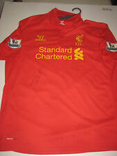 RAHEEM STERLING HAND SIGNED 2012-13 HOME JERSEY UNFRAMED + PHOTO PROOF + C.O.A