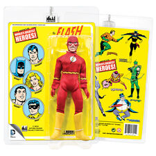 Official DC Comics The Flash 8 Inch Action Figure with Mego Style Retro Cards