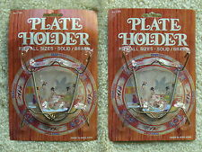 PAIR OF CHADWICK-MILLER SOLID/BRASS ADJUSTABLE PLATE HOLDERS *NEW*