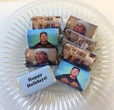 50 CHRISTMAS VACATION PERSONALIZED MINI CANDY BAR WRAPPERS PARTY FAVORS