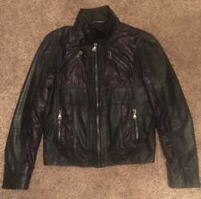 DOLCE & GABBANA D&G Runway Lambskin Leather Motorcycle Jacket M (50) $1495