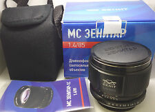 Brand New !! Portrait MC Zenitar-1C 85mm f/1.4 Lens Canon EF mount EOS.