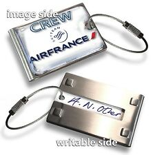 AIR FRANCE-CREW  LUGGAGE TAG (METAL)