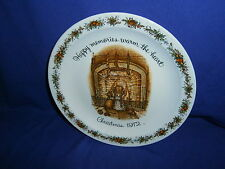 Vintage Holly Hobbie Happy Memories Christmas 1972 Collector Plate USA 10 1/4in