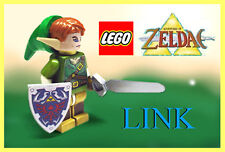 Custom Lego Zelda Deluxe Twilight Link Minifig w/ Skyward Sword & Hylian Shield