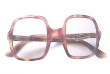 FRENCH 1960s MEN MOD TORTOISE SQUARE SUNGLASSES  -HANDCRAFTED-MADE IN FRANCE-NEW