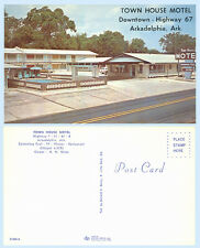 Town House Motel Arkadelphia Arkansas Highway 67 Postcard Autos Pool Signage