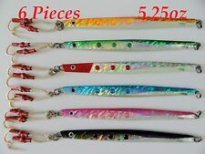 Speed Jigs 6 Pieces 5.25oz/150g Vertical Butterfly Saltwater Lures + FREE BAG