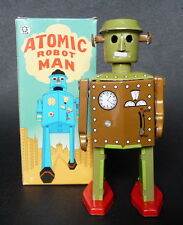 Atomic Robot Windup Tin Toy Clockwork