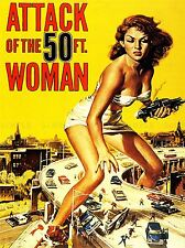 MOVIE FILM ATTACK FIFTY FOOT WOMAN SCI FI GIANTESS USA ART POSTER PRINT LV2164