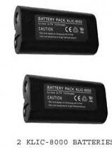 2 KLIC-8000 Batteries for Kodak Z612 Z712 Z812 Z1012 Z1085 Z1485 Z8612 ZD8612 IS