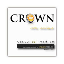 New Larsen Crown 4/4 Cello String Set Medium FREE USA SHIPPNG