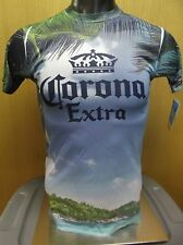 Mens Licensed Corona Extra Beer All Over Beach Print Shirt NWT $25 2XL
