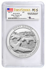 2017-P 25c 5 oz Specimen Silver ATB Effigy Mounds PCGS SP70 FS Mercanti SKU45288