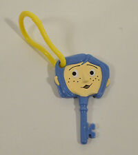 "RARE 2008 Coraline Backpack Clip-On Action Figure Key 3.25"" Hardee's Movie Toy"