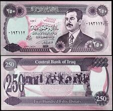 IRAQ 250 DINAR 1995 UNC P.85 WITH SADDAM HUSSEIN