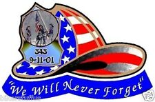 FIRE FIGHTER 911 NEVER FORGET STICKER BUMPER STICKER