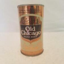 Old Chicago Dark Beer Can, Peter Hand Brewing 1970s, Pull Tab, Top Opened, Steel