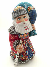 Russian SANTA Wood Hand Carved Hand Painted Father of Frost