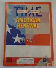 Magazine- Time, Special Project, American Renewal February 23, 1981