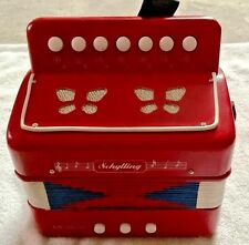 Schylling The Little Red Accordion Child Size Squeeze Box Accordian Sounds Great