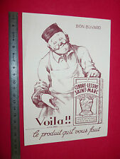 BUVARD LESSIVE ST MARC CENDRE LESSIVE PRODUIT D'ENTRETIEN  1950-1960