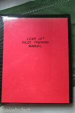 Lear Jet PILOT Training Manual 225pp CJ610 Engine Issued 1978 Very Good+++