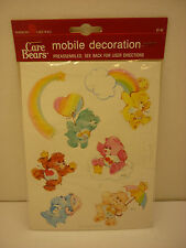 Vtg 1986 American Greetings Care Bears Paper Mobile Friend Wish Tenderheart Love