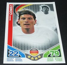 SUPER MARIO GOMEZ ALLEMAGNE TOPPS MATCH ATTAX CARD GAME FOOTBALL 2010 PANINI