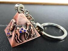KEY Chain Ring Feng Shui Egypt Egyptian Copper Tone Pyramid REIKI Chakra Amulet