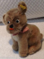 "❤VINTAGE STEIFF DOG MOPSY 3312,00 4"" 1960-67 Mohair An Adorable Face!! Rare OLD❤"
