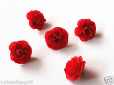 """red 10pcs Lovely Silk Flowers Rose Heads Wedding Birthday Party Decorations 2"""""""