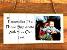"""Personalised Family Photo Plaque Sign 8x4"""" Grandad Grandpa Fathers day Gift"""