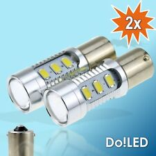 2x SMD LED BA15S 1156 P21W Lampen Xenon Weiss Audi Tagfahrlicht A6 4F C6 S6 RS6