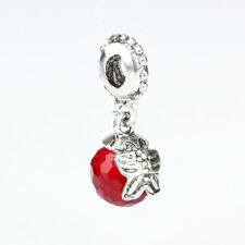 Fine Red Crystal Round Glass Pendant Bead Fit European Charm Bracelet