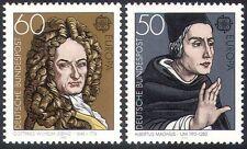 Germany 1980 Europa/Leibniz/Magnus/Mathematics/Philosophy/People 2v set (n42606)