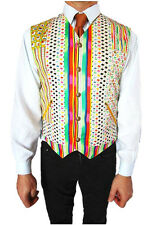 VERSACE New Mens Vtg Rare Cotton Floral Abstract Pattern Vest Waistcoat sz 52 XL