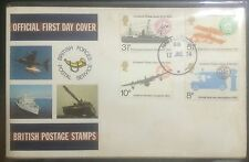 UK cover -1974 UPU stamp set canc Singapore Forces PO aircraft, ship