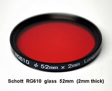 Schott RG610 52mm x 2mm thick Infrared Longpass Filter, Color IR Photography