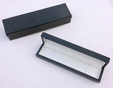 Luxury high quality gloss black ebony gift box jewellery bracelet pen watch case