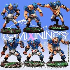 Fantasy Football - OGRE TEAM of 6 PLAYERS for Blood Bowl - Meiko Miniatures