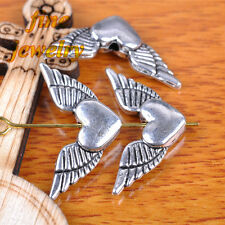 20 Pieces 25mm Angel Wing Spacer beads Heart Tibetan Silver DIY Jewelry C7344