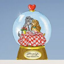 Filled With Love Valentines Lady and the Tramp Miniature Snow Globe