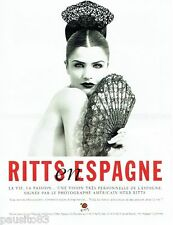 PUBLICITE ADVERTISING 116  1996  Herb Ritts en Espagne